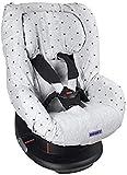 Dooky 126831 Light Grey Crown Funda de asiento infantil (ajuste universal para muchos modelos populares, grupo de edad 1+ 9 - 18 kg, sistema de cinturón de 3 y 5 puntos), Gris