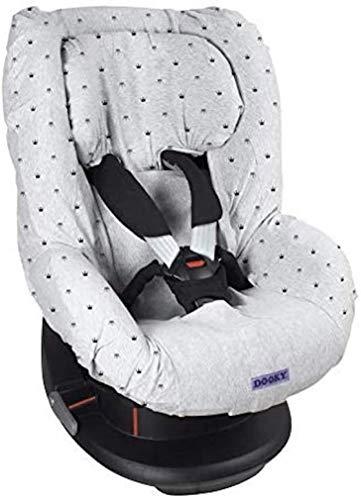 Dooky 126831 Light Grey Crown Funda de asiento infantil (ajuste universal para muchos modelos populares, grupo de edad 1+ 9 - 18 kg, sistema de cinturón de 3 y 5 puntos), Gris 🔥