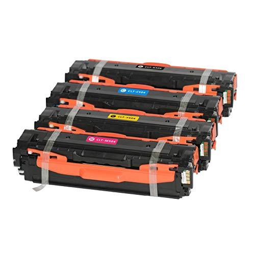 Abakoo - 4 toner laser XXL Pro Serie di ricambio per Samsung CLT-504S CLT- K504S Black CLP-410/ CLX-4195 / CLX-4195FN / CLX-4195FW / CLX-4195NXpress C 1860 FW Premium Line