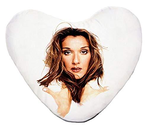 Le coussin cœur Céline Dion