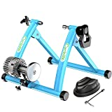 Cycleinn Fluid Bike Trainer Stand for Indoor Riding with Noise Reduction, Portable Bicycle Exercise Training Stand with Fluid Flywheel, Stationary Bike Resistance Trainer for Road & Mountain Bikes