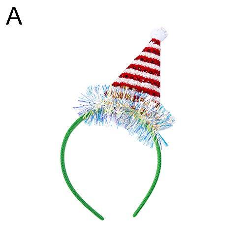 Bangle009 Weihnachtsdekoration Rentier Geweih Baum Hut Stirnband Haarreifen Kinder Erwachsene Party Kopfbedeckung Verkauf Räumung, a, Einheitsgröße