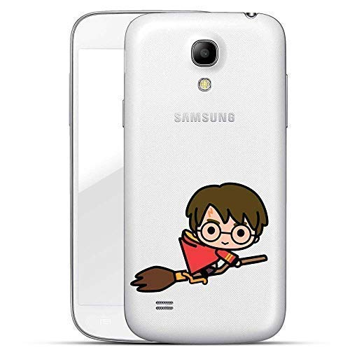 Harry Potter Chibi Serie Custodia Rigida Samsung Galaxy S4/S4 Mini - Harry Potter Chibi Vola Trasparente, Samsung Galaxy S4