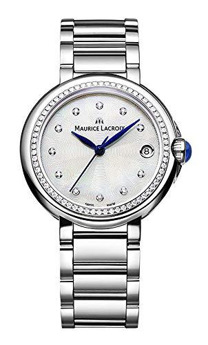Maurice Lacroix Fiaba Round FA1004-SD502-170-1 Damenarmbanduhr mit echten Diamanten