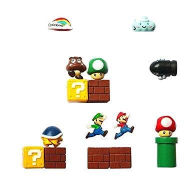 Super Mario Fridge Magnets - 16 PCS Refrigerator Magnets,Office Magnets,Calendar Magnet,Whiteboard Magnets,Perfect Decorative Magnet