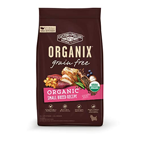 Castor & Pollux ORGANIX Grain Free Organic Small Breed Recipe Grain Free Dry Dog Food - 4 lb. Bag(Pack of 1)