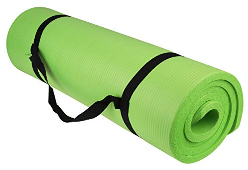 Tahoe Trails Non Slip Thick Yoga Mat 1/2 Inch Thick with Carrying Strap | Yoga Set Perfect For Pilates, Core Workout…