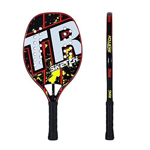 Top Ring Rachetta Beach Tennis Sketch Red/Yellow - 100% Fiberglass - Spessore 22 mm.