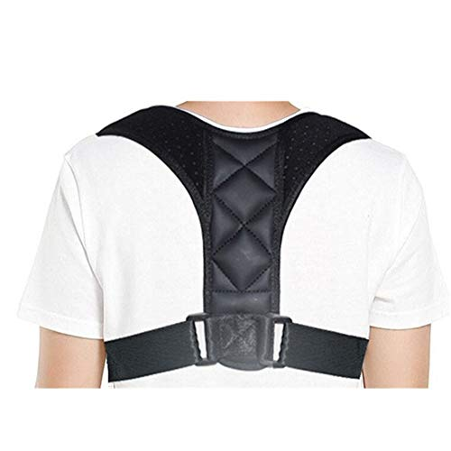 RZDJ Medical Einstellbare Clavicleweinlesehalskette Körperhaltung Korrektor Männer Woemen Ober Rückengurt Schulter-Rückenstütze-Gurt-Korsett Haltungskorrektur (Color : Large Size)