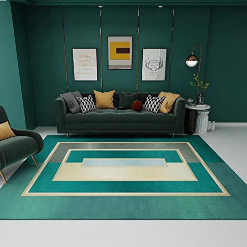 Michance Europäische Geometrische Abstrakte Rechteckige Fußmatten rutschfeste Saugfähige Sofa Couchtisch Teppich Schlafzimmer Wohnzimmer Hotel Party Urlaub Teppich