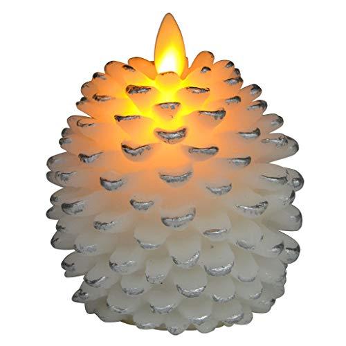 SYQS LED elektronische Kerzen, Tannenzapfen Teelicht Lampe schwingen, Nachtlicht Restaurant Atmosphäre Schlafzimmerlampe White