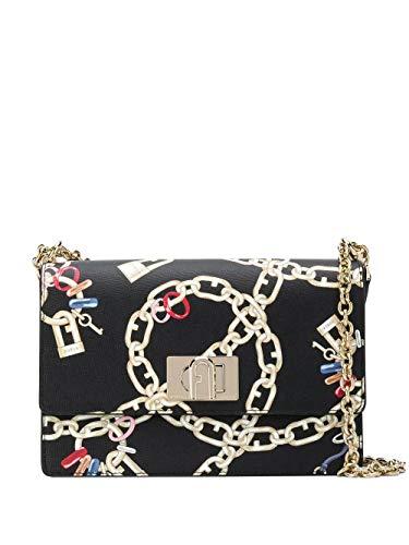 FURLA Luxury Fashion Donna 1065978 Nero Borsa A Spalla   Primavera...