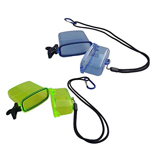 freneci 2 Paquetes de Contenedor Seco Impermeable Amarillo + Azul para Esnórquel para Navegar a Vela