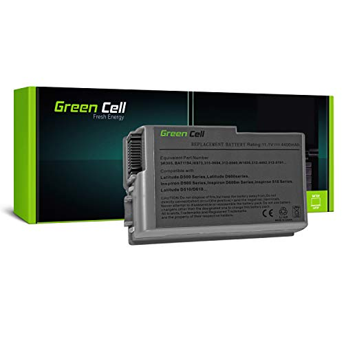Green Cell Standard Series Battery for Dell Inspiron 500 500m 510m 600m Latitude 500M 600M D500 D505 D510 D520 D530 D600 D610 PP05L PP17L Precision M20 Laptop (4400mAh 11.1V Silver)