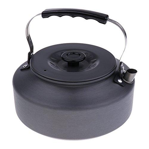 MagiDeal Pot Bouilloire Portable Grande Capacité En Aluminium Alliage, 1600ml