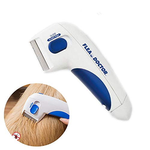 Enjoyfeel Peine para Mascotas, Cepillo eléctrico, Eliminación de piojos Limpieza de Mascotas,...