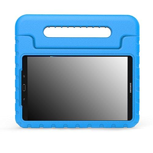 MoKo Funda Compatible con Samsung Galaxy Tab A 10.1 2016 - Ligero y Super Protective Funda diseñar Especialmente para los niños para Galaxy Tab A 10.1(SM-T580/T585, sin Lápiz), Azul
