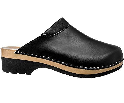 profesional ranking Zapatos de madera para mujer Zapatos de trabajo sanitarios ESTRO CDL02 (37, negro 1) elección