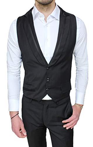 NUOVO Da Uomo Grigio Argento BELLE controllo Panciotto Gilet Per Suit Giacca Jeans 36 38 40 42