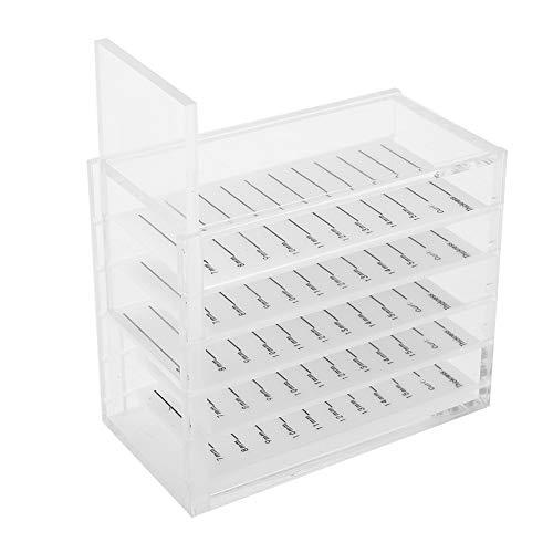 Nikou Boîte de Rangement pour Les Cils - 5 Couches Boîte de Rangement pour Les Cils en Plastique Boîte à Maquillage Boîte à greffer Les Cils Boîte à Cils Blancs Outils d'extension boite rangement cils