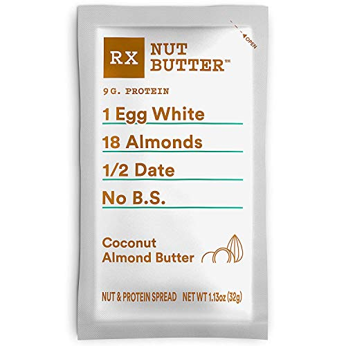 RX Nut Butter, Coconut Almond Butter, 10 Count, Keto Snack, Gluten Free