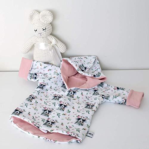 Wende Jacke - Waschbär - Rose - Baby Mädchen