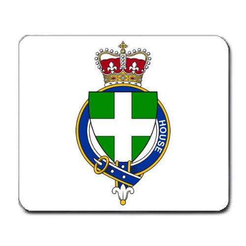 House or Houser England Family Crest Coat of Arms Mouse Pad