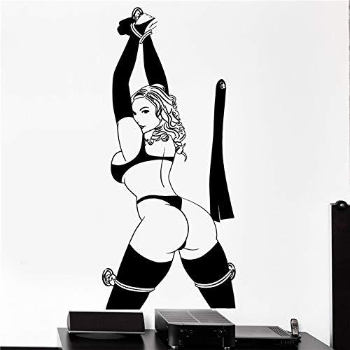 wZUN 2pcs Nude Sexy Wandtattoo Frau Aufkleber Badezimmer Teen Art 124X58cm