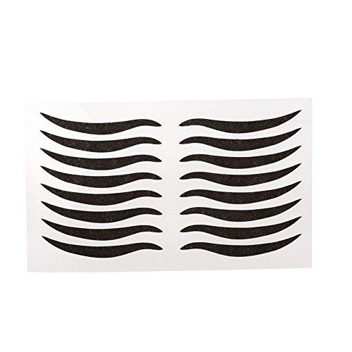 ANGGREK 40Paires Double Bande De Paupière Noir Invisible Auto-adhésif Eye Line Strip Autocollant Outil De Maquillage Pour Les Yeux