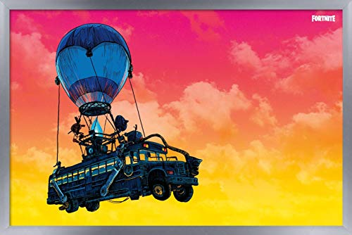 Battle Bus Landscape Framed Wall Poster