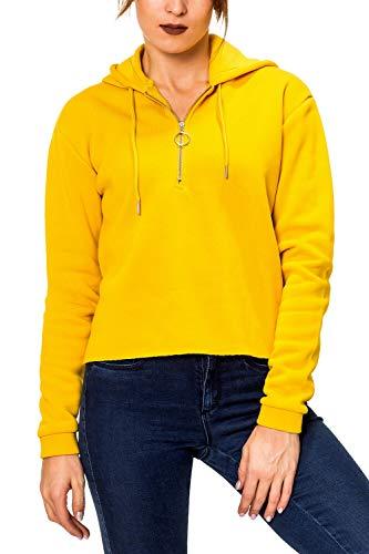 Hailys Damen Hoodie Kapuzenpullover Sweatshirt (L, Light Curry)