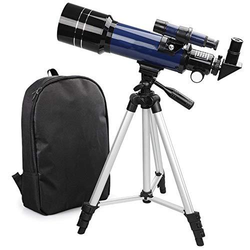 Telescopios para Niños, Viajes Telescopio niños, 70 mm de apertura 400mm Monte astronómico refractor telescopios para principiantes adultos astronomía, telescopios portátilviaje con bolsa transporte