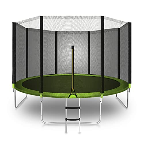 Trampoline 12 FT Jump Trampolines with Safety Enclosure Net - ASTM Approved - Combo Bounce Outdoor Trampoline for Kids and Family Fun