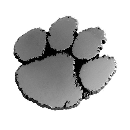 Fanmats - 14851 FANMATS NCAA Clemson University Tigers Chrome Team Emblem 3'x3.2'