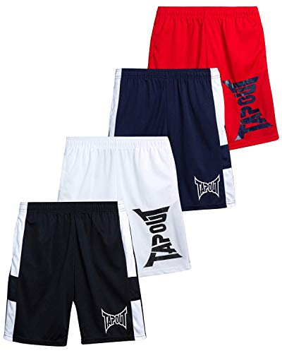 TapouT Boys' Athletic Shorts - Active Performance Basketball Shorts (4 Pack)