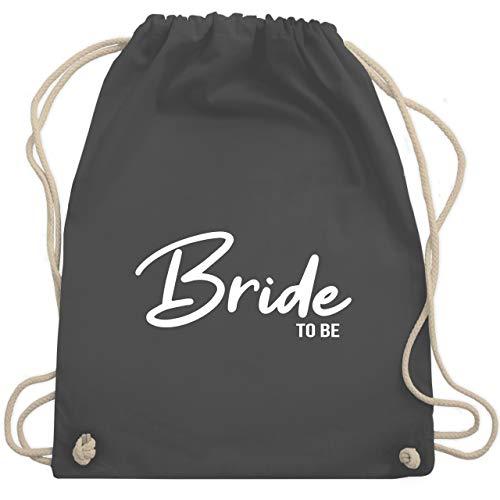 Shirtracer JGA Junggesellenabschied Frauen - Bride to be schlicht - Unisize - Dunkelgrau - bride to be rucksack - WM110 - Turnbeutel und Stoffbeutel aus Baumwolle