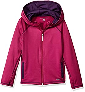 Amazon Essentials Full-Zip Active Jacket, outerwear-jackets Niñas, Fucsia, 95 cm (Talla fabricante: 3T)