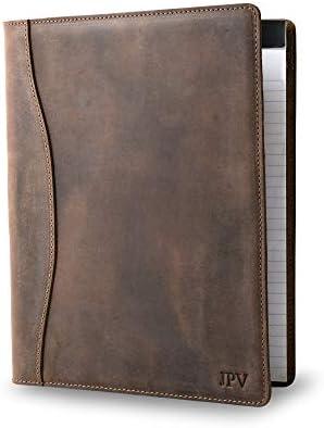 Personalized Leather Padfolio Legal Pad Folio Organizer Customized Executive Binder Monogrammed product image