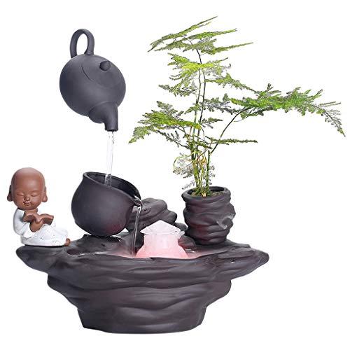 TangMengYun Tabletop-Brunnen Dekoration Aquarium Innen Luftbefeuchter Brunnen Atomisierung Kreative Haushalt Feng Shui Zen Dekoration