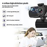 Mini webcam con microfono HD 2K 4 milioni di pixel USB PC Laptop Computer Telecamere con messa a fuoco automatica per video riunioni in streaming live