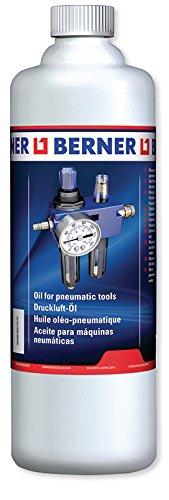 Berner Profi Druckluftöl 1000 ml 128863 Druckluft Schlagschrauber Warten und Pflegen von Druckluftgeräten und Pneumatik