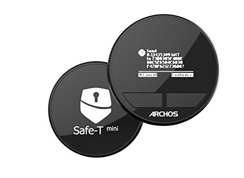 ARCHOS Safe -T Mini/A Hardware Wallet to protect your crypto-currencies - Compatible with Bitcoin, Bitcoin Cash, Bitcoin Gold, Dash, Litecoin, Ethereum, Ethereum Classic and all ERC20 Token