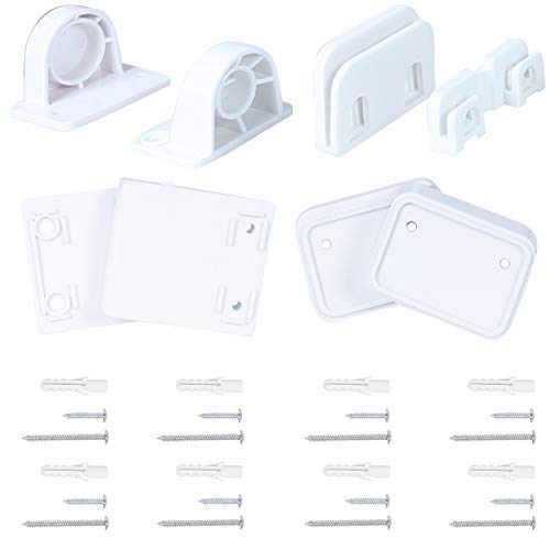 Hardware Replacement Parts Kit for Babepai 3-Way Retractable Baby Gate, Full Set Mounting Accessories Brackets Screws Anchors Wall Spacers Latches Repair Parts for Retractable Gate Asin B087FC83RX