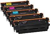 Kit 5 INK INSPIRATION Toner Compatibili per HP Color LaserJet Enterprise M552dn M553n M553dn M553x MFP M577dn M577f M577c | Sostituzione per HP CF360X 12.500 Pagine CF361X CF362X CF363X 9.500 Pagine