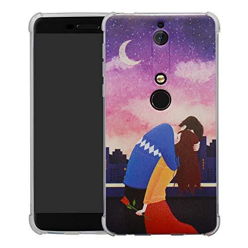 HHDY Nokia 6.1 2018 Cover,Brand Custodia Gel Morbida Disegni Bumper Ultra Leggera Sottile TPU Schema Case per Nokia 6.1 2018,Lover