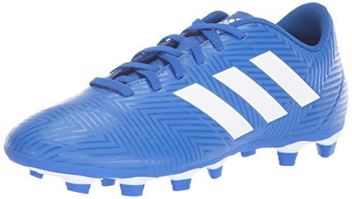 adidas Men's Nemeziz 18.4 FxG Soccer Shoe, Football Blue/White/Football Blue, 8.5 M US