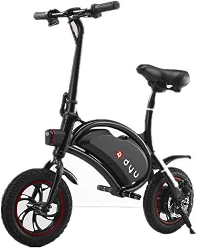 Nfudishpu Transformando Scooter eléctrico Mini-Drive Aleación de Aluminio Coche eléctrico Plegable Impermeable, Rueda de Goma Scooter portátil Inteligente para Adultos (Color: 1)