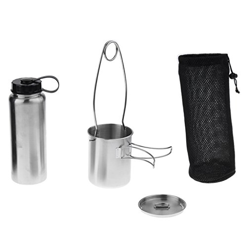 Stainless Leak Proof Water Bottle Cup/Pot Kettle With Mouth Spreader Hanger
