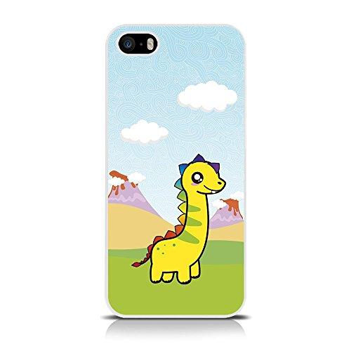 Call Immagine: Dinosauri Terra-Cover Posteriore Rigida per Apple iPhone, SE/5s/5, Colore: Multicolore