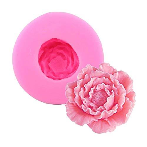 Moldes de silicona en forma de flor para hornear moldes para pasteles, jabón, gelatina, pan, pudín,